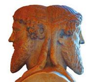 A Janus-faced Statue